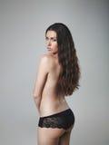 Piękny toples kobieta model obrazy stock