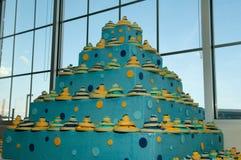 piękny tort w środku przyjęcie ślub zdjęcie royalty free