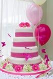 piękny tortowy ślub Fotografia Royalty Free