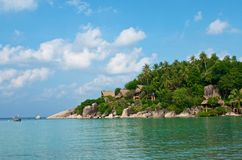 Piękny tropikalny wyspy Koh Tao, Tajlandia Zdjęcia Stock