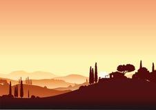 piękny Tuscany ilustracja wektor