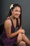 Piękny uśmiechnięty Pacyficznej wyspiarki nastolatek Zdjęcia Stock