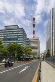 Piękny uliczny widok Ginza okręg, Tokio, Japonia obraz stock