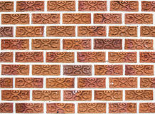Piękny unikalny ściana z cegieł Zdjęcia Royalty Free
