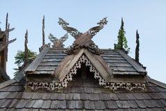 Tajlandzki północny stylu dach Obraz Royalty Free