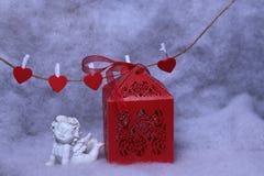 Piękny valentine wakacje skład fotografia stock