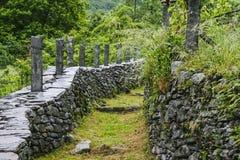 Piękny Valle maggia natury krajobraz Switzerland zdjęcie stock