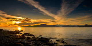Piękny Vancouver terenu plaży park BC Kanada Obraz Stock