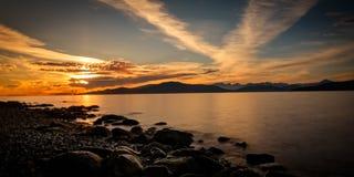 Piękny Vancouver terenu plaży park BC Kanada Zdjęcia Stock