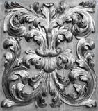 Piękny Włoski tradycyjny wewnętrzny ornament robić złoto i drewno Zdjęcia Stock