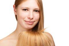 Piękny włosy Zdjęcia Stock