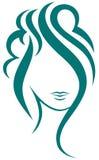 piękny włosy tęsk kobieta royalty ilustracja
