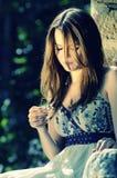 piękny włosy tęsk model Zdjęcie Stock