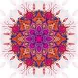 Piękny wektor barwiący mandala ornament elementu dekoracyjny rocznik sporządzić tła ręka Islam, język arabski, indianin Zdjęcie Stock