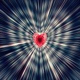 piękny wektor Od czerwonego serca w środku różni się barwionych lampasy krawędzie Dla matka dnia, walentynka dzień Zdjęcia Royalty Free