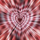 piękny wektor Od serca w środku różni się lampasy krawędzie Wizerunek dla matka dnia, walentynka dzień Zdjęcia Royalty Free