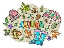 Piękny wektorowy jesień skład Fotografia Stock