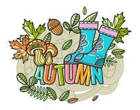 Piękny wektorowy jesień skład Zdjęcia Royalty Free