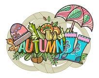 Piękny wektorowy jesień skład Zdjęcie Royalty Free