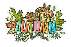Piękny wektorowy jesień skład Obraz Stock