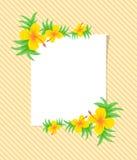 Piękny wektorowy kwiatu wzór z liściem na białym tle fotografia stock