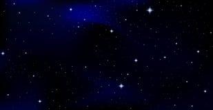 Piękny wektorowy tło z gwiazdozbiorami w gwiaździstym nocnym niebie royalty ilustracja