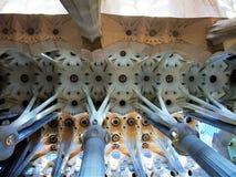 piękny wewnętrzny sufit Barcelona katedra Hiszpania obrazy royalty free