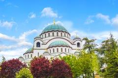 Piękny widok świątynia St Sava w Belgrade, Serbia Zdjęcia Royalty Free