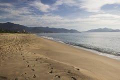 Piękny widok Caraguatatuba plaża, północny wybrzeże stan Fotografia Stock