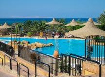 Piękny widok Czerwony morze w Hurghada june2009 zdjęcie stock