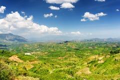 Piękny widok dolina wokoło Da Lat miasta fotografia stock