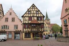 Piękny widok dom w Alsace fotografia royalty free