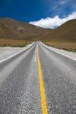 Piękny widok droga i niebo, Południowa wyspa, Nowa Zelandia Zdjęcia Royalty Free