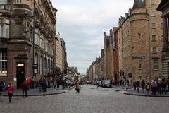 Piękny widok Edynburg droga obraz stock