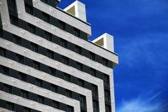 Piękny widok fasada nowy budynek obraz stock
