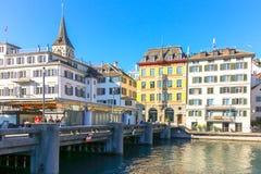 Piękny widok historyczny centrum miasta na słonecznym dniu obrazy stock