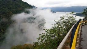 Piękny widok Hydroelektryczna elektrownia fotografia stock