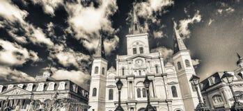 Piękny widok Jackson kwadrat w Nowy Orlean, Luizjana zdjęcie stock