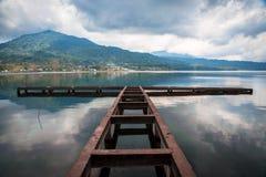 Piękny widok jezioro w Bali zdjęcia royalty free