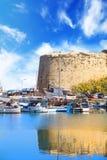 Piękny widok Kyrenia kasztel w Kyrenia Girne, Północny Cypr Obraz Stock