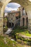 Piękny widok Loro Ciuffenna w Tuscany zdjęcia royalty free