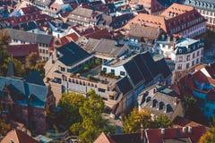 Piękny widok miasto Heidelberg w Niemcy Turystyczni miejsca obrazy royalty free