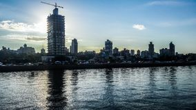 Piękny widok miasto Posadas od wybrzeża Zdjęcia Stock