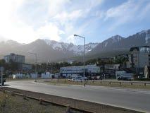 Piękny widok miasto Usuahia Argentyna fotografia stock