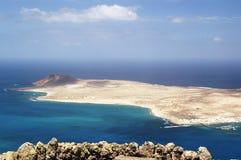 Piękny widok na Graciosa Lanzarote zdjęcia royalty free