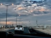 Piękny widok na samochodowej wycieczce zdjęcie royalty free