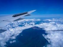 Piękny widok nad wulkan górą Zdjęcia Stock