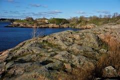 Piękny widok nad wyspą Suomenlinna zdjęcia royalty free