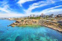 Piękny widok nowy port Kyrenia Girne, Północny Cypr Obraz Stock