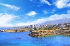 Piękny widok nowy port Kyrenia Girne, Północny Cypr Obraz Royalty Free